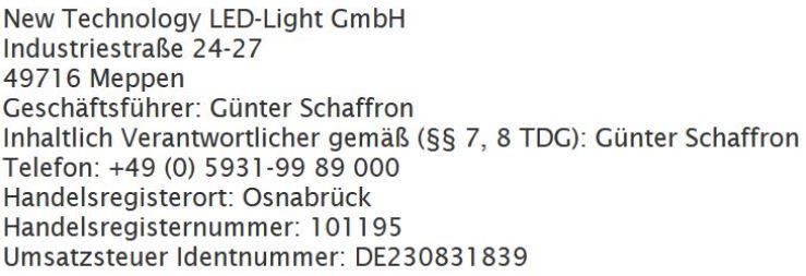 Impressum led-fachgrosshandel.de